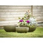 Round Copper Planters (Set of Three) by Rustic Garden