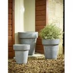 Natural Grey Flower Pots (Set of Three) by Rustic Garden