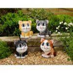 Bright Eyed 12cm Cat Spot Light (Solar) by Smart Garden