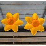 2 x Cast Iron Daffodil Wild Bird Feeders by Gardman